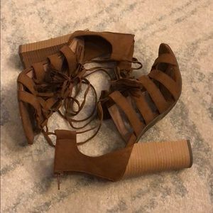 Women's NY&C Lace Up Sandals.